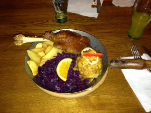 Goose Leg at Fatal Restaurant